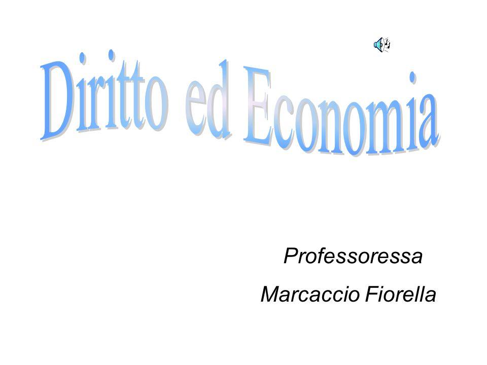 Diritto ed Economia Professoressa Marcaccio Fiorella