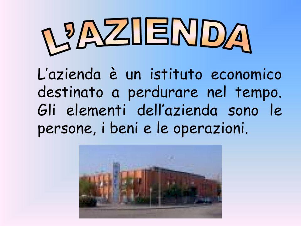 L'AZIENDA L'azienda è un istituto economico destinato a perdurare nel tempo.