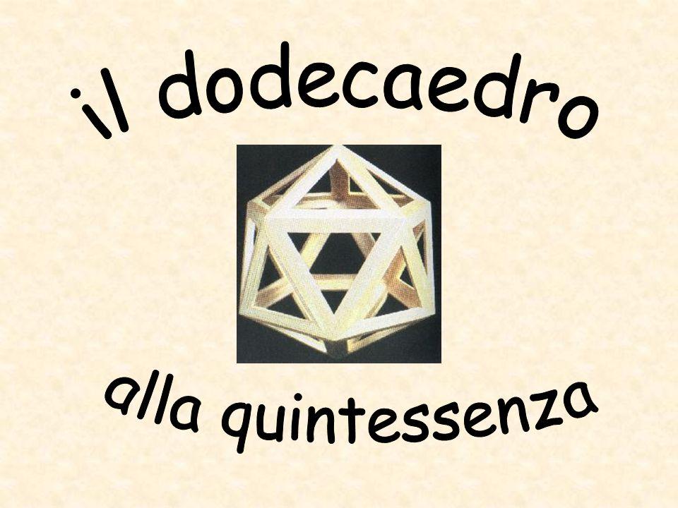 il dodecaedro alla quintessenza