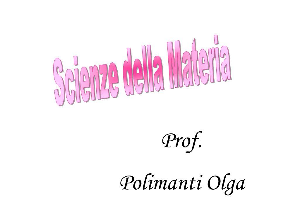 Scienze della Materia Prof. Polimanti Olga