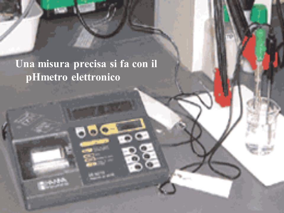 Una misura precisa si fa con il pHmetro elettronico
