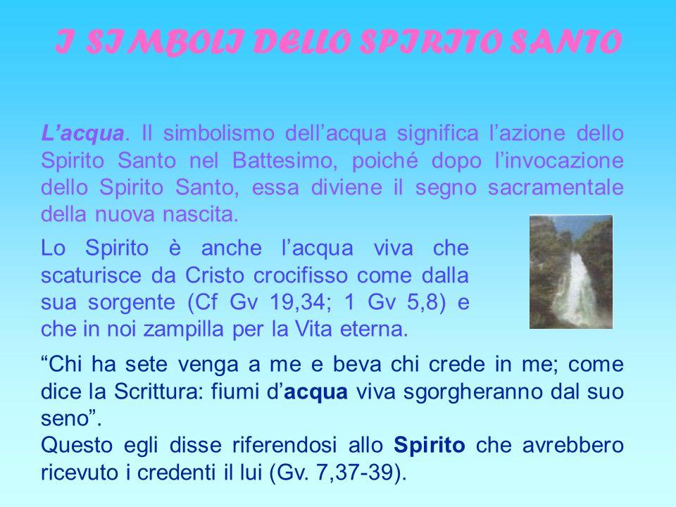 I SIMBOLI DELLO SPIRITO SANTO