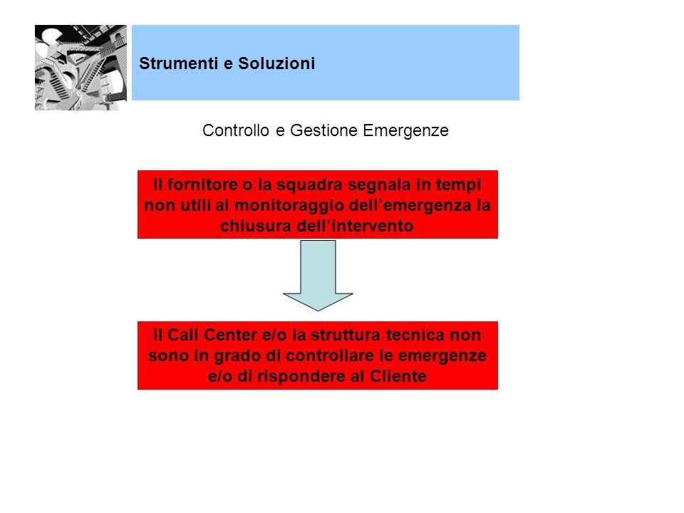 Controllo e Gestione Emergenze