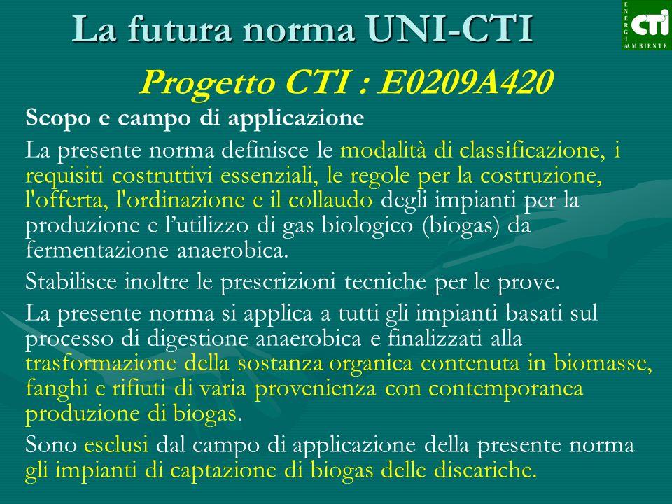 La futura norma UNI-CTI