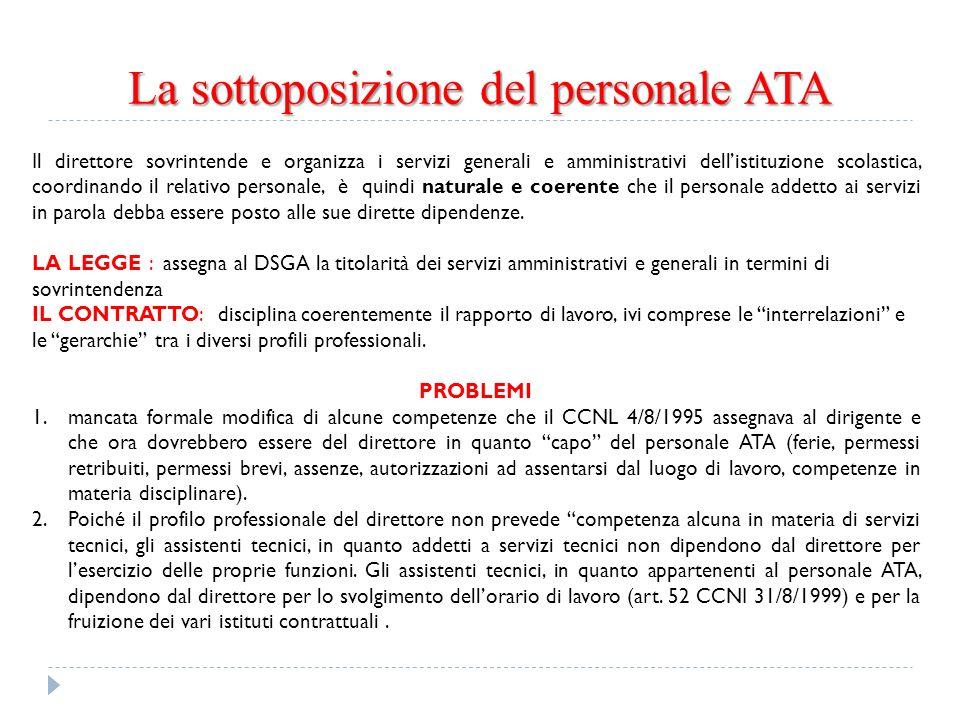 La sottoposizione del personale ATA