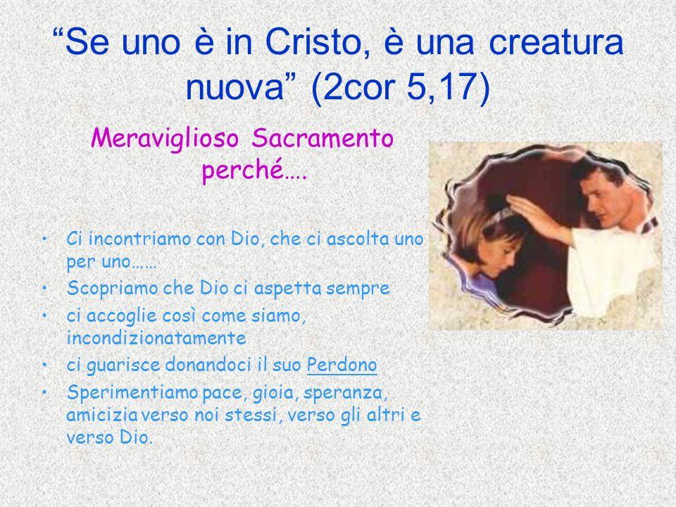 Se uno è in Cristo, è una creatura nuova (2cor 5,17)