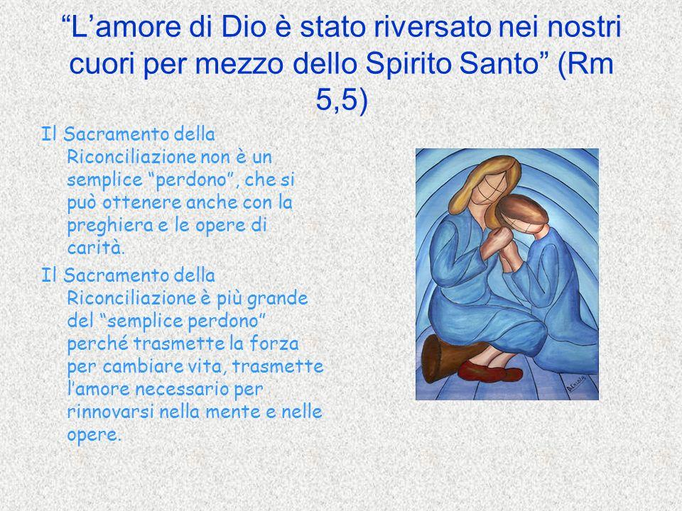 L'amore di Dio è stato riversato nei nostri cuori per mezzo dello Spirito Santo (Rm 5,5)