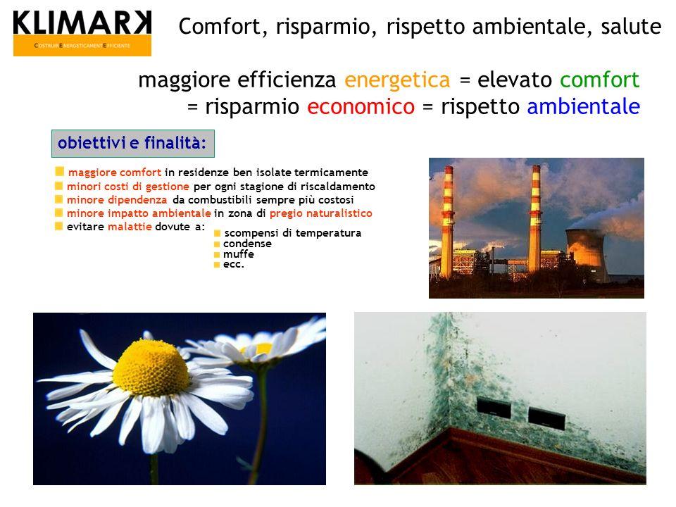 Comfort, risparmio, rispetto ambientale, salute