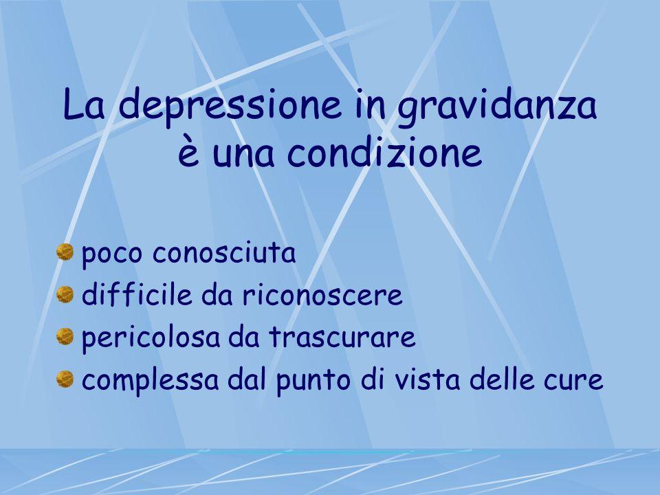 La depressione in gravidanza è una condizione