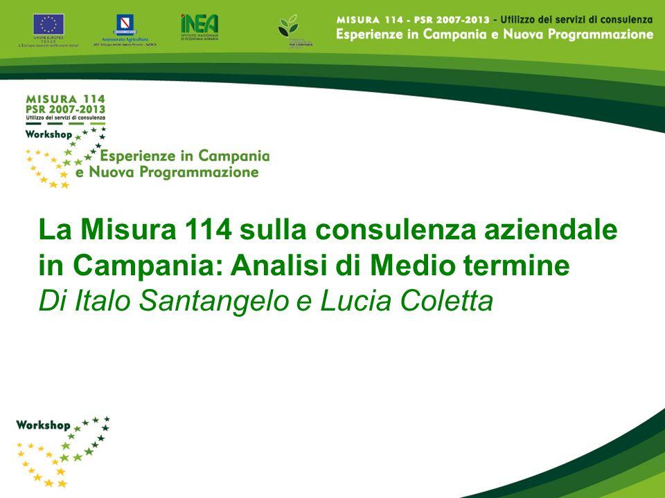 La Misura 114 sulla consulenza aziendale