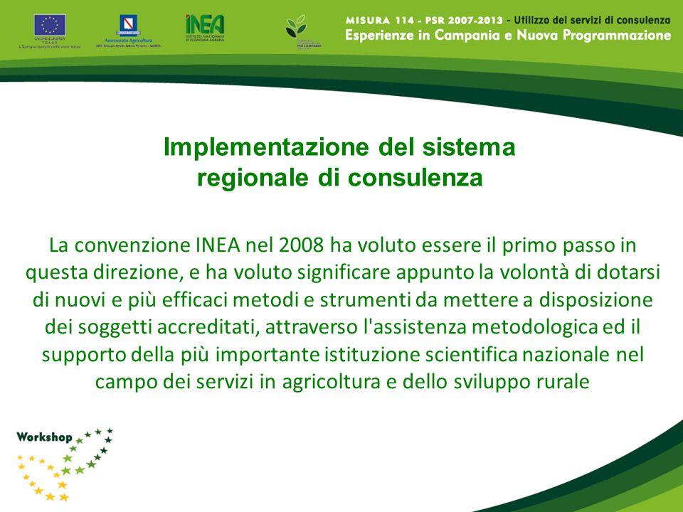Implementazione del sistema regionale di consulenza