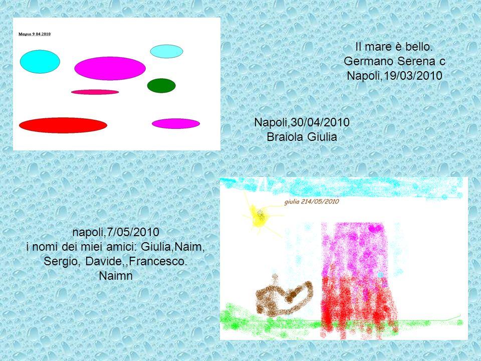 i nomi dei miei amici: Giulia,Naim, Sergio, Davide,,Francesco. Naimn