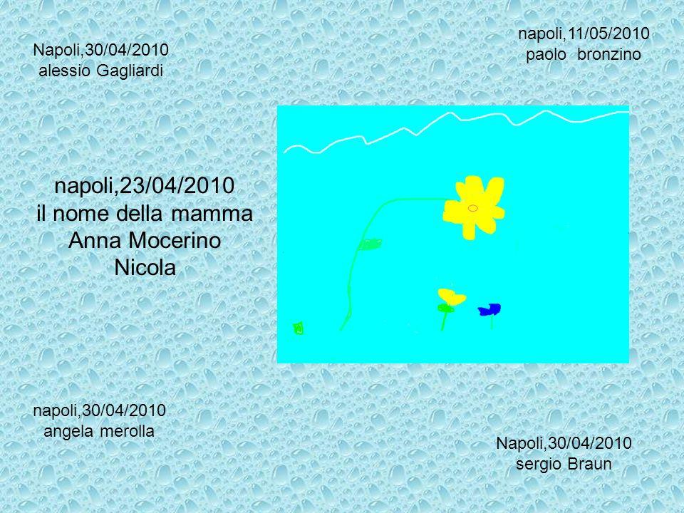 napoli,23/04/2010 il nome della mamma Anna Mocerino Nicola