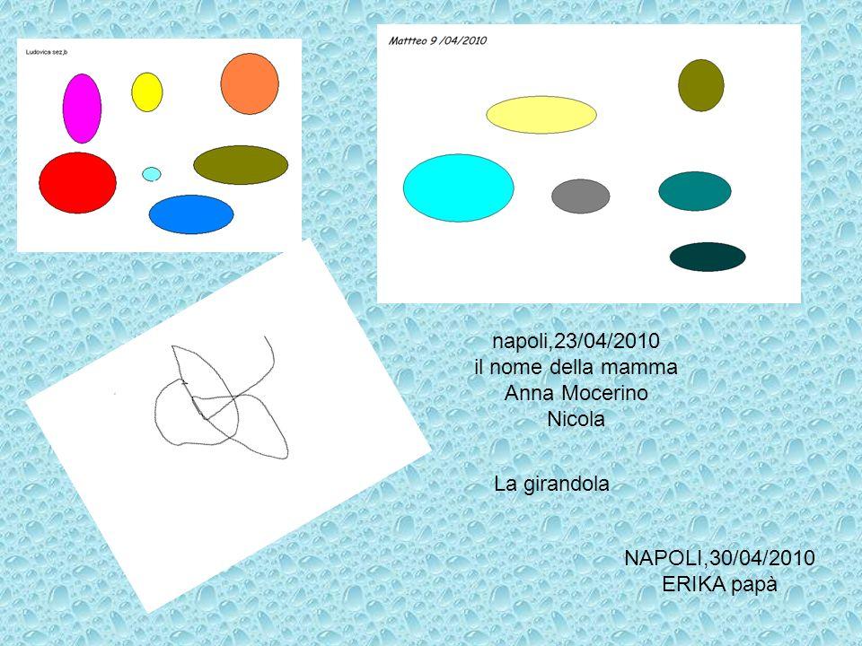 napoli,23/04/2010 il nome della mamma. Anna Mocerino.