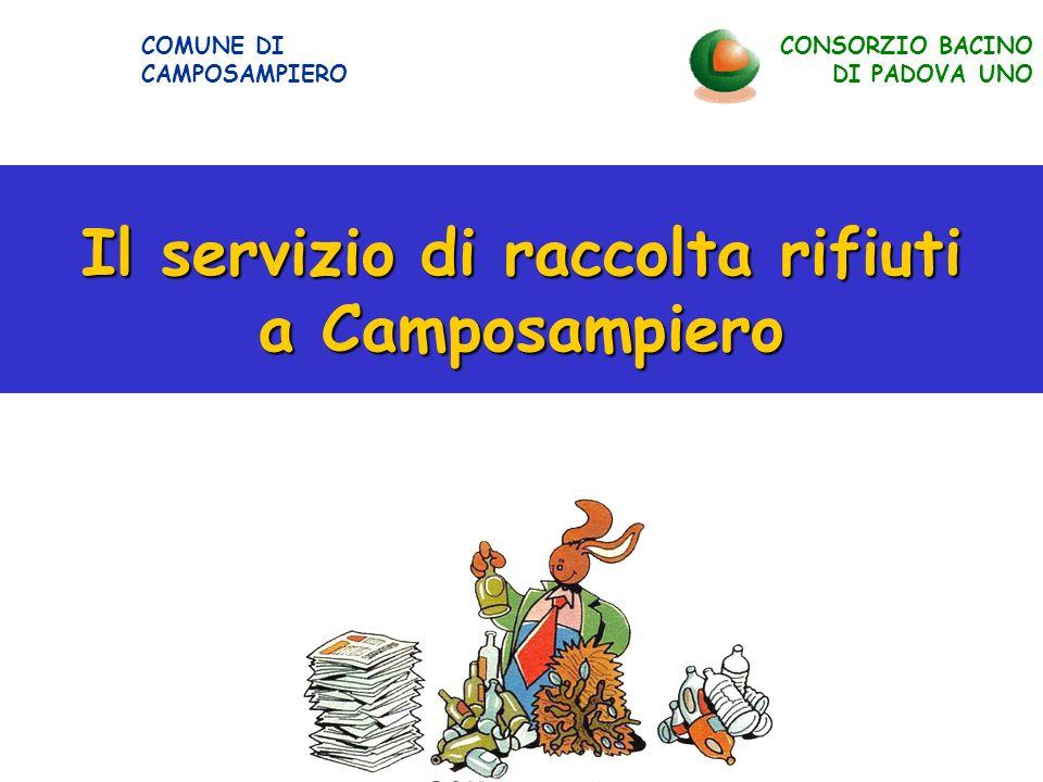 Il servizio di raccolta rifiuti a Camposampiero