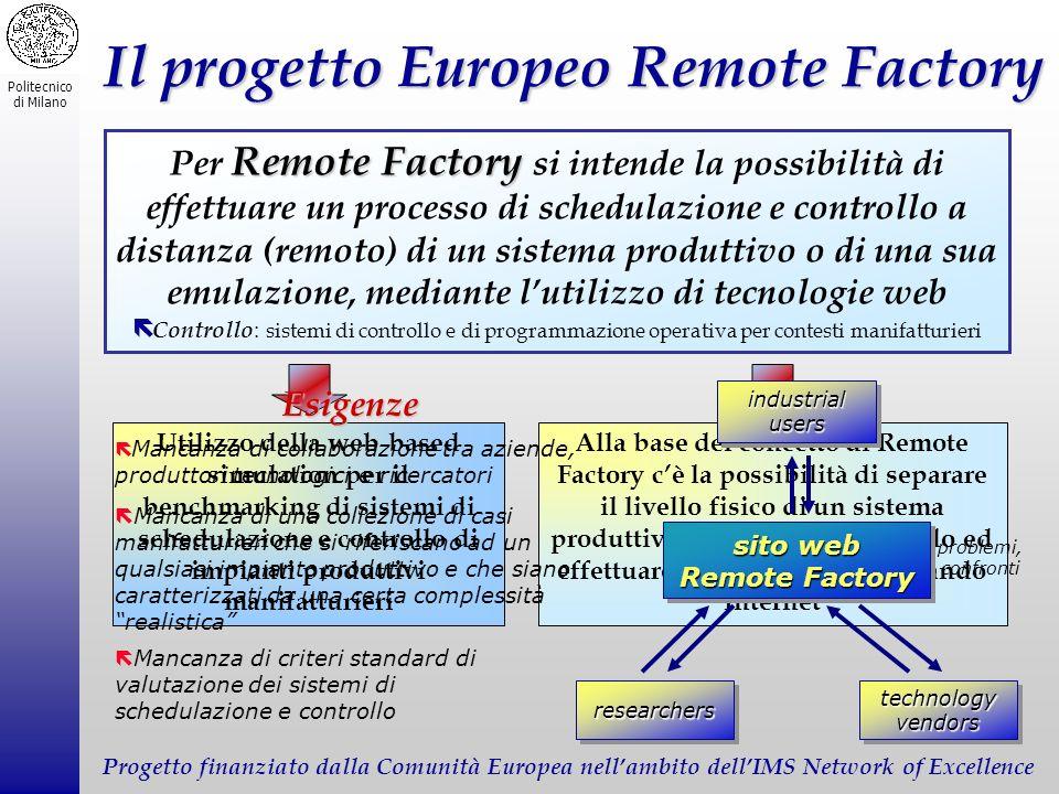 Il progetto Europeo Remote Factory