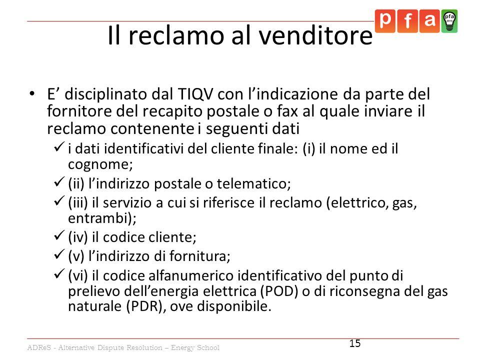 Adres alternative dispute resolution energy school for Recapito postale