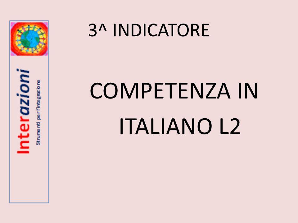 COMPETENZA IN ITALIANO L2