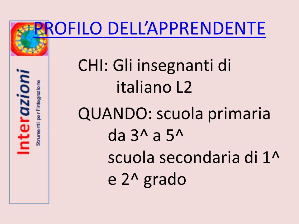 PROFILO DELL'APPRENDENTE