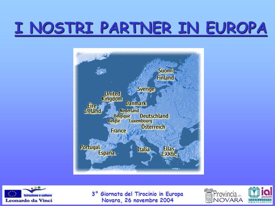 I NOSTRI PARTNER IN EUROPA