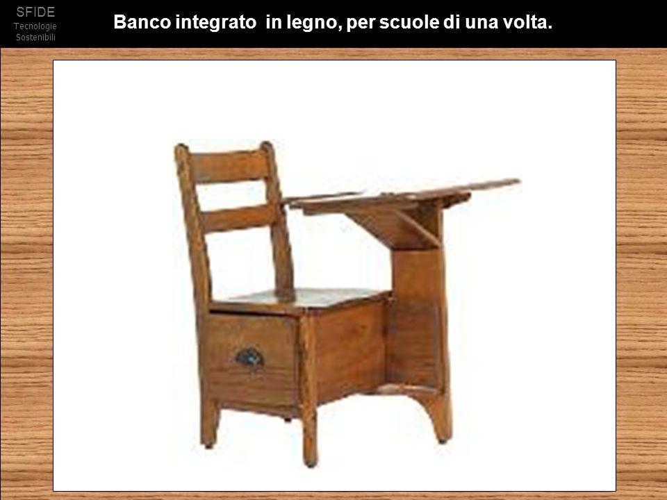 Banco integrato in legno, per scuole di una volta.