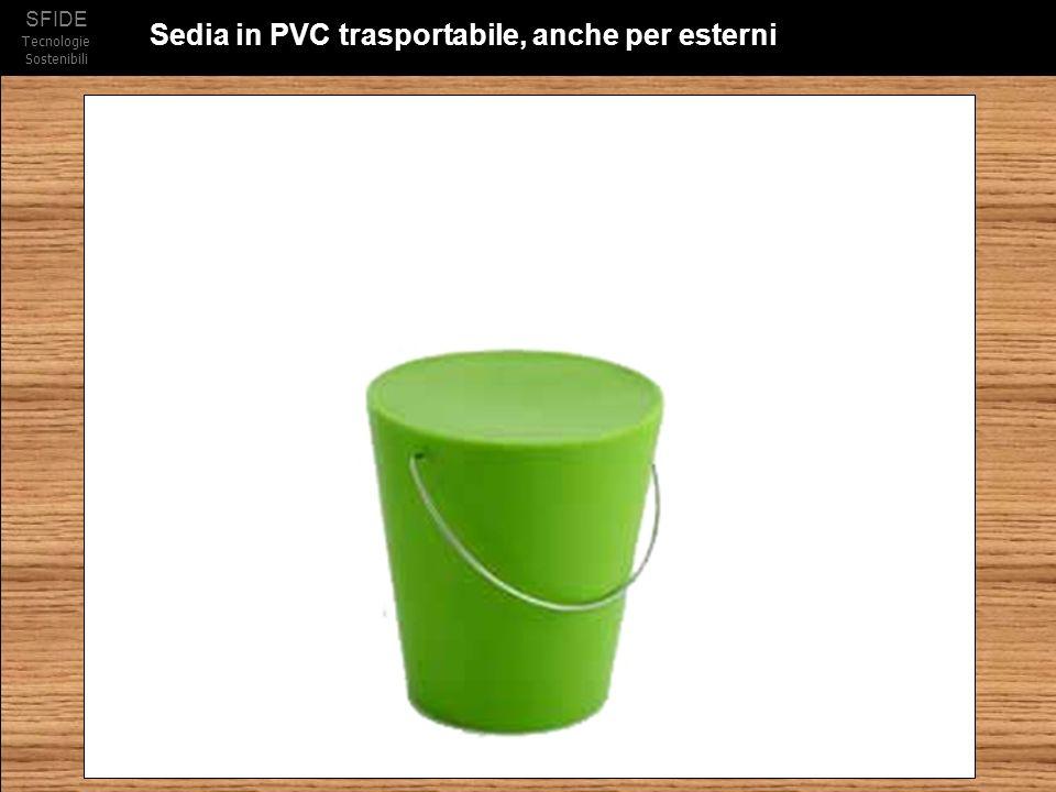 Sedia in PVC trasportabile, anche per esterni