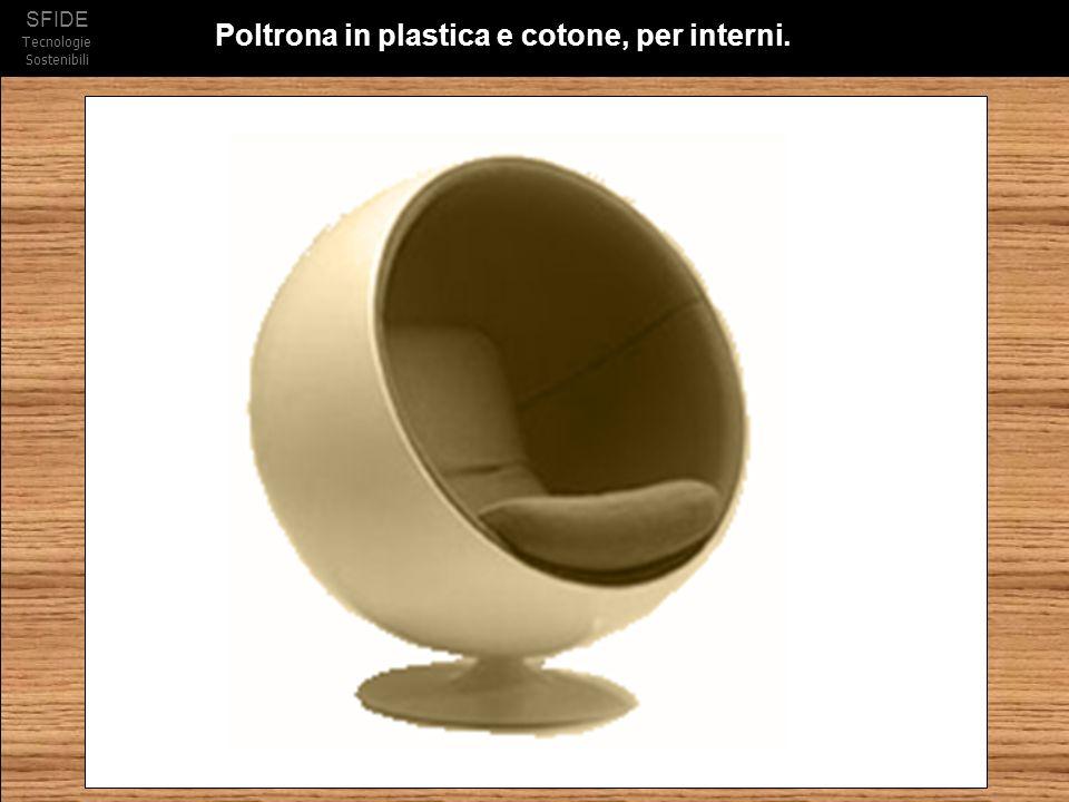 Poltrona in plastica e cotone, per interni.