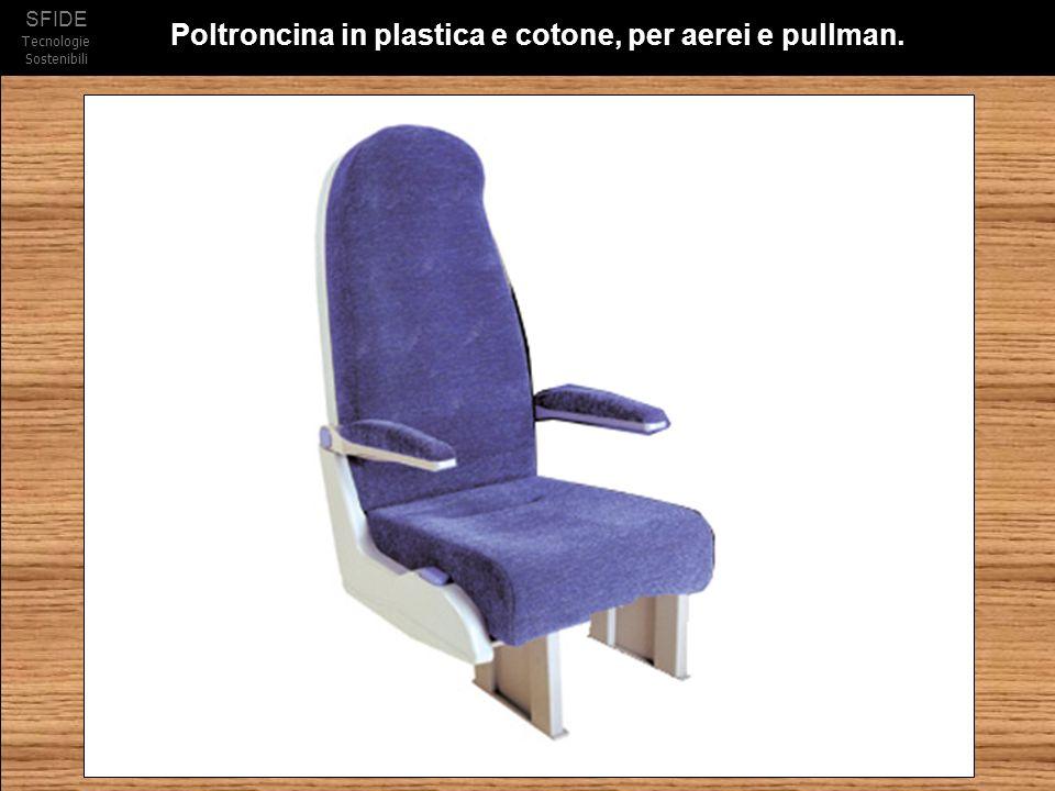 Poltroncina in plastica e cotone, per aerei e pullman.