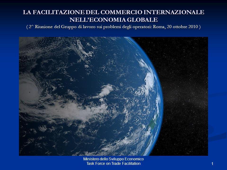 Ministero dello Sviluppo Economico Task Force on Trade Facilitation