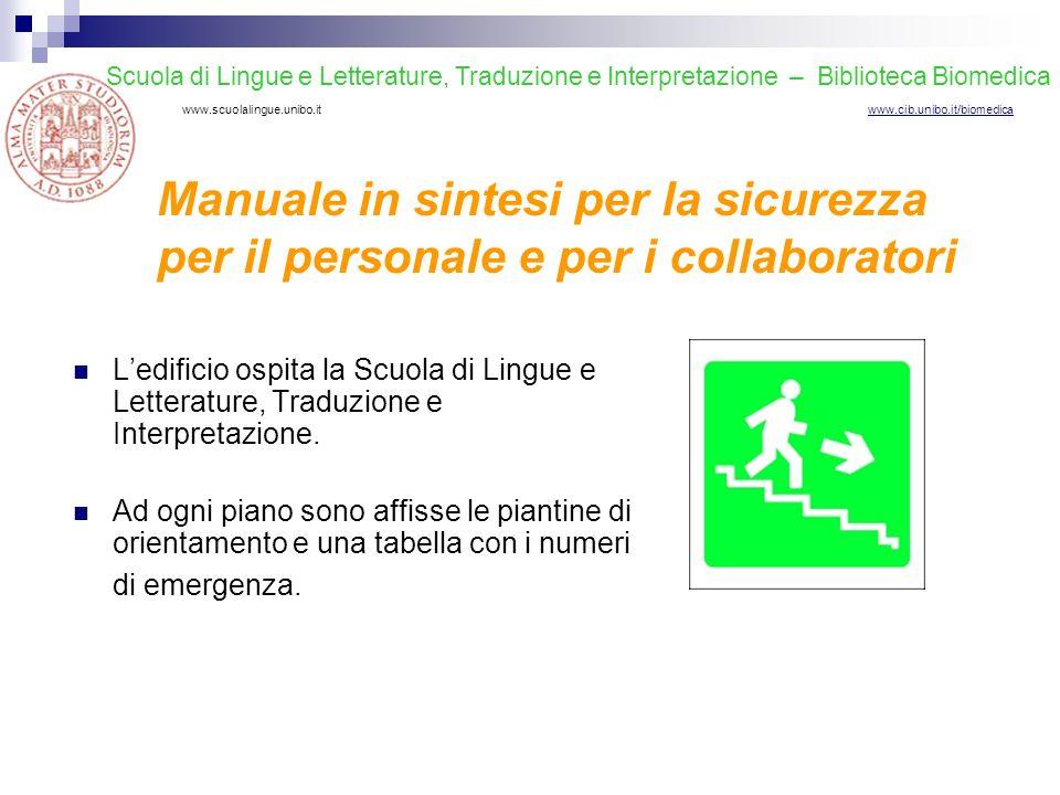 Scuola di Lingue e Letterature, Traduzione e Interpretazione – Biblioteca Biomedica