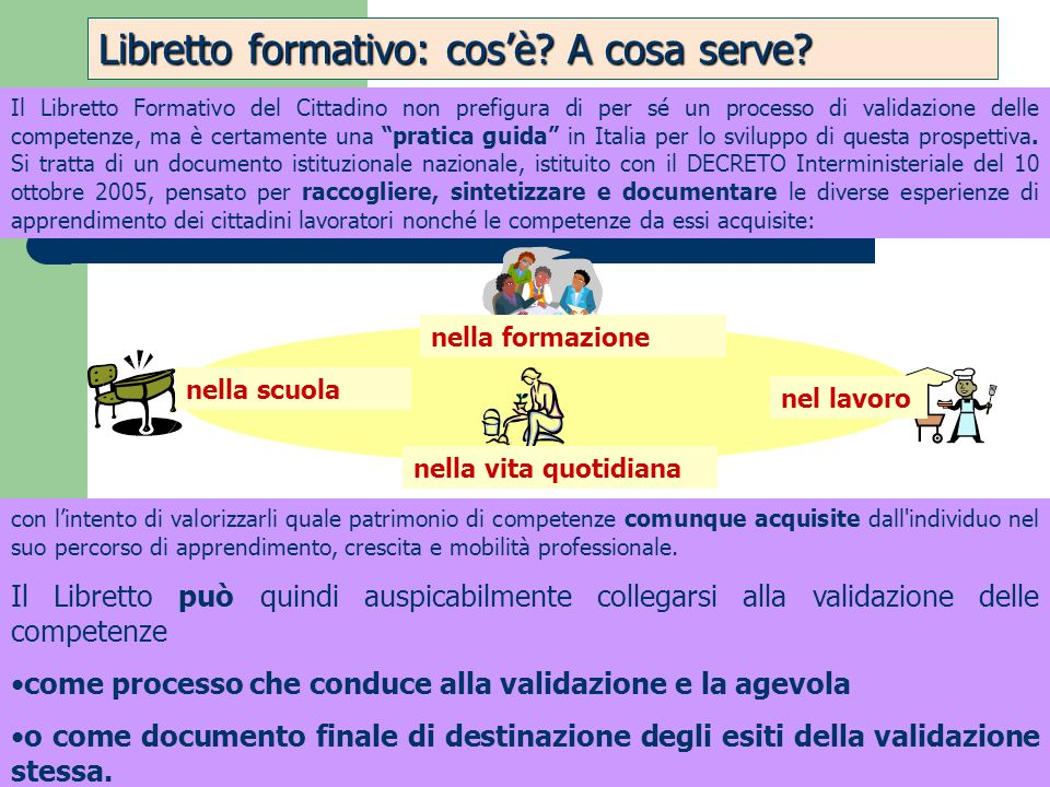 Libretto formativo: cos'è A cosa serve