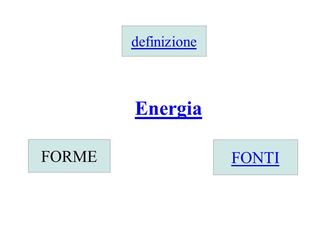 definizione Energia FORME FONTI