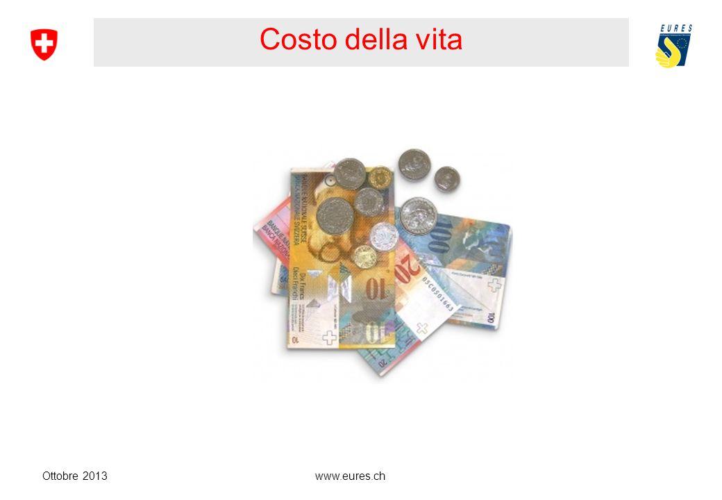 Costo della vita Ottobre 2013