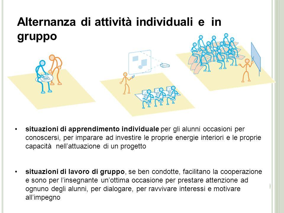 Alternanza di attività individuali e in gruppo