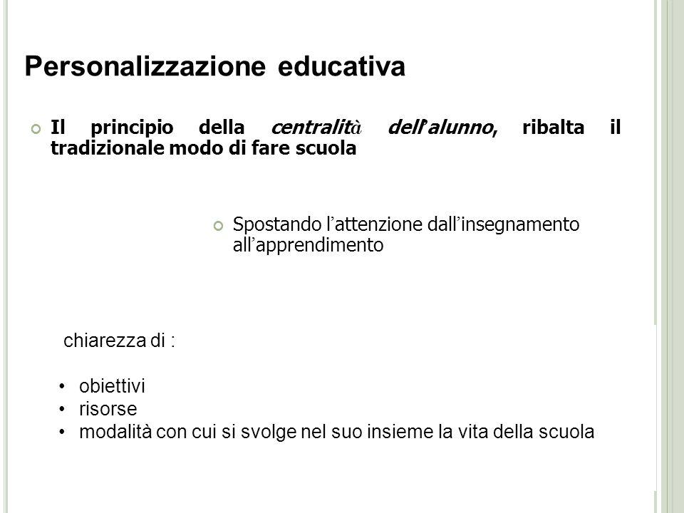 Personalizzazione educativa