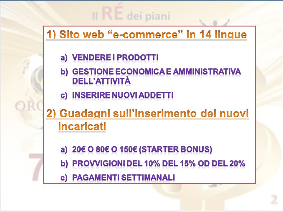 1) Sito web e-commerce in 14 lingue