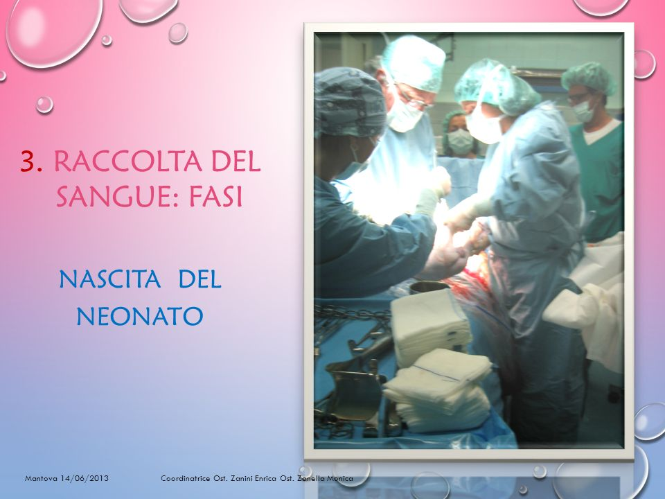 3. RACCOLTA DEL SANGUE: FASI