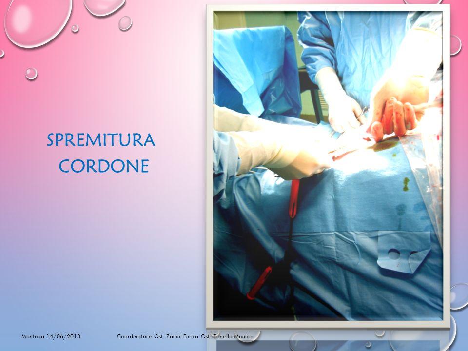 SPREMITURA CORDONE. Mantova 14/06/2013 Coordinatrice Ost.