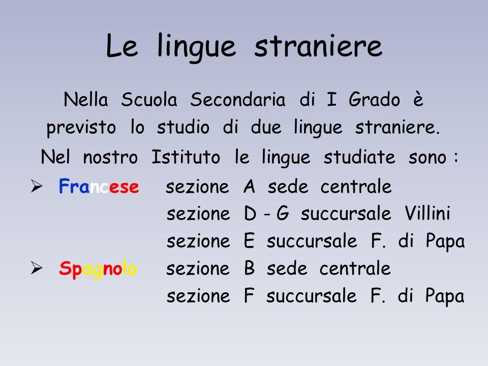 Le lingue straniere Nella Scuola Secondaria di I Grado è