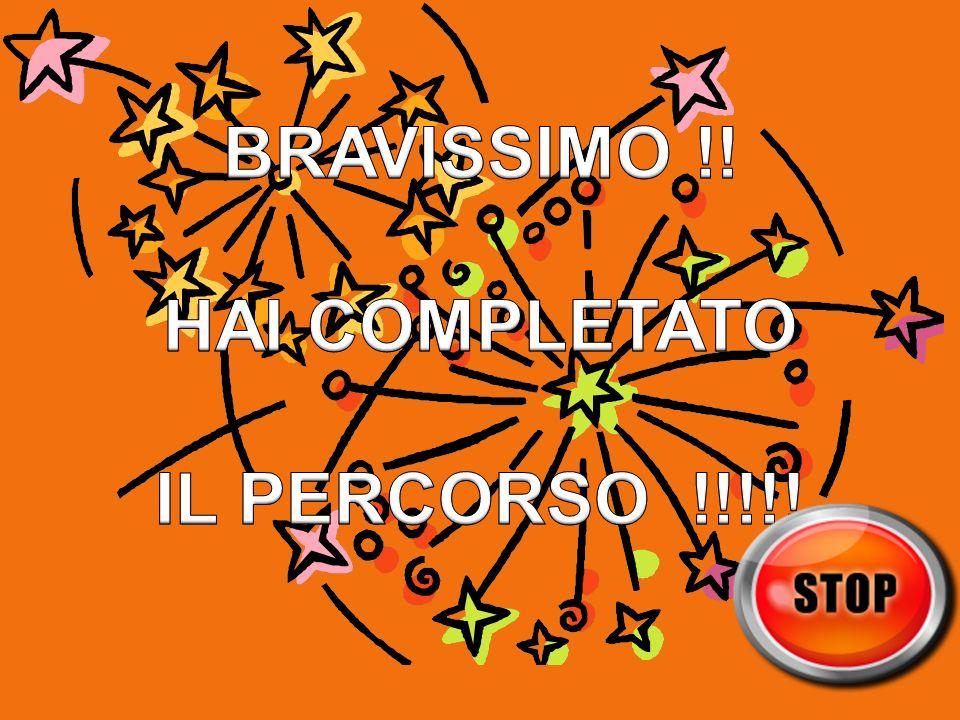 BRAVISSIMO !! HAI COMPLETATO IL PERCORSO !!!!!