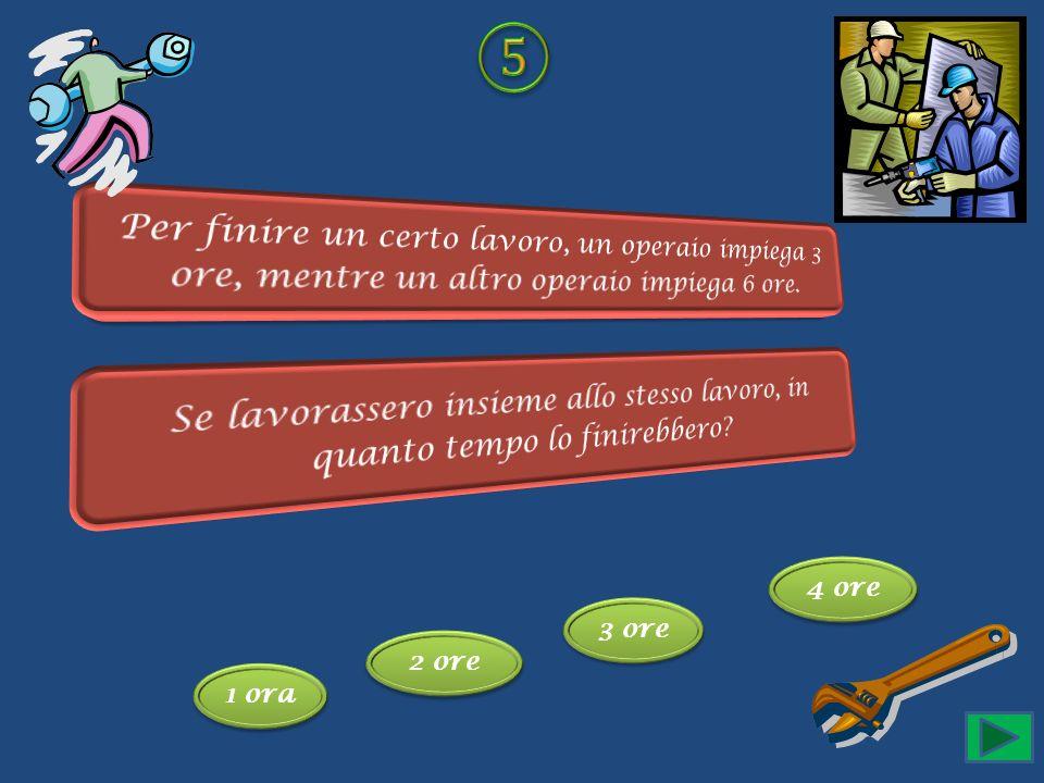 ⑤Per finire un certo lavoro, un operaio impiega 3 ore, mentre un altro operaio impiega 6 ore.