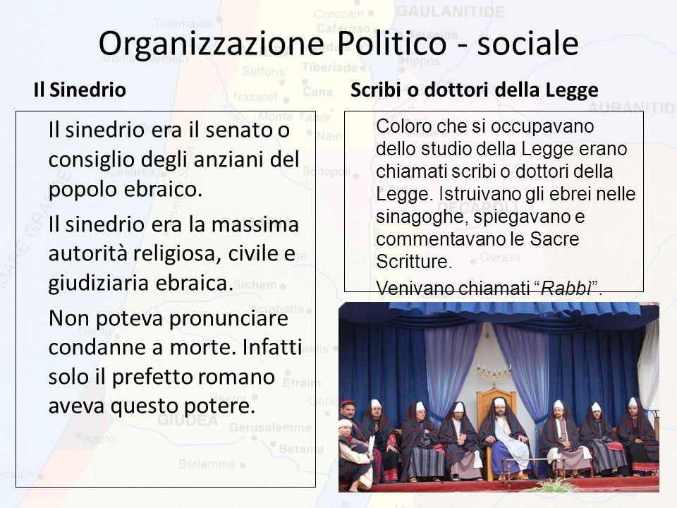 Organizzazione Politico - sociale