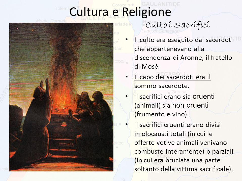 Cultura e Religione Culto i Sacrifici