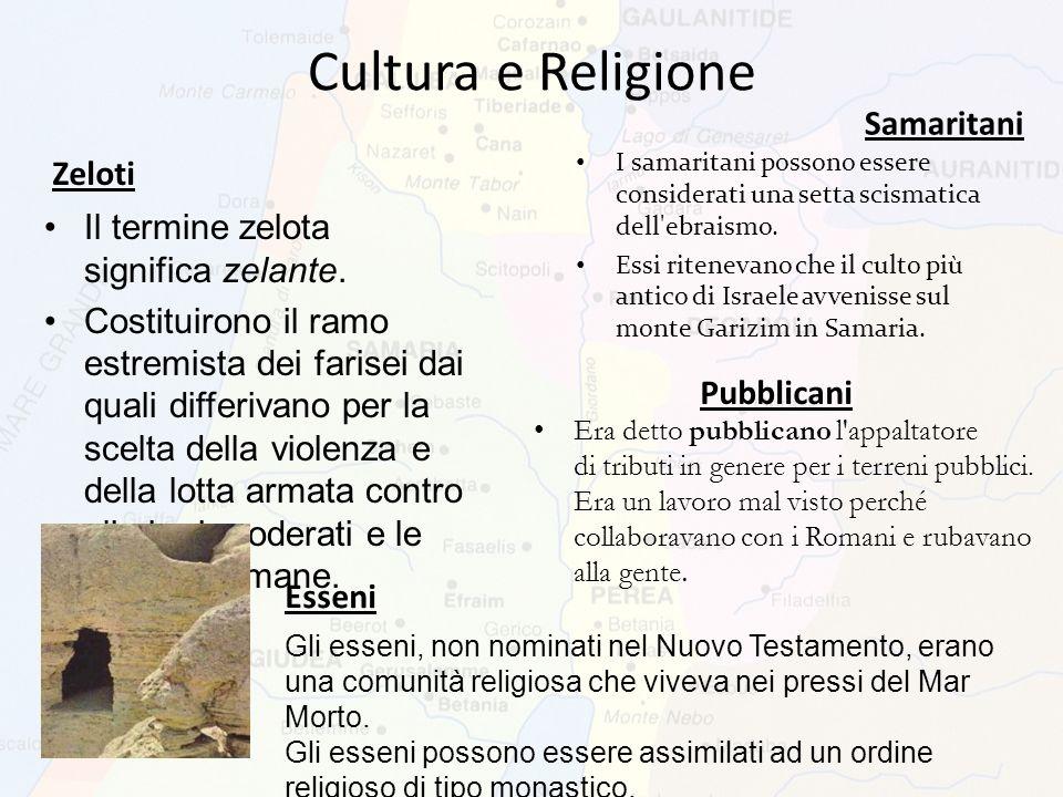 Cultura e Religione Samaritani Zeloti
