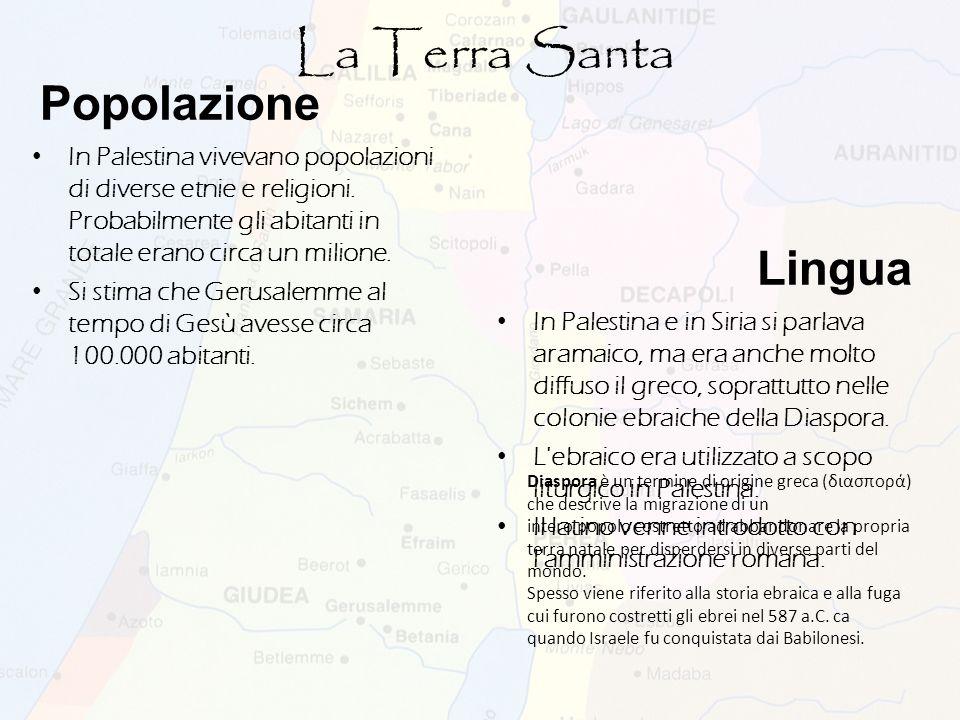 La Terra Santa Popolazione Lingua