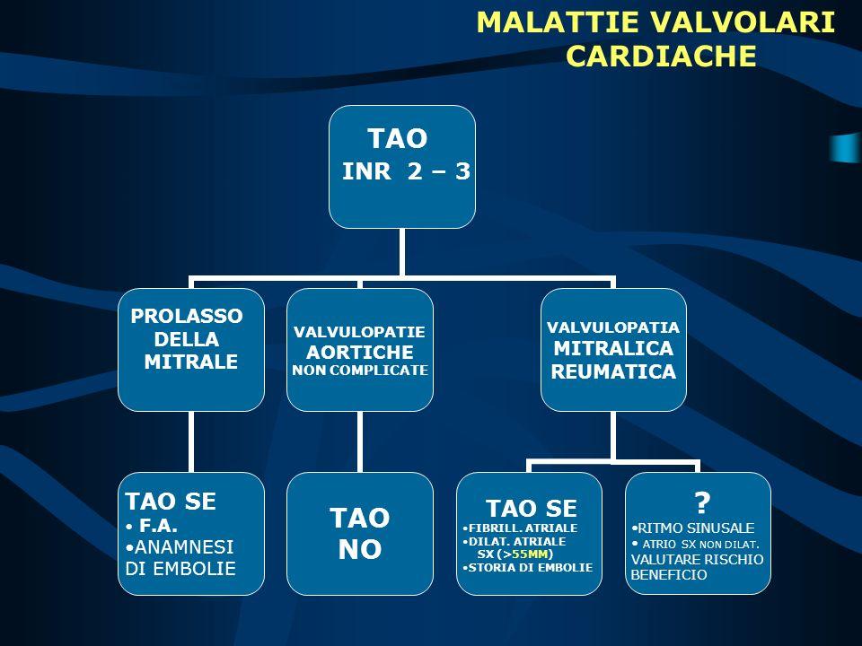 MALATTIE VALVOLARI CARDIACHE