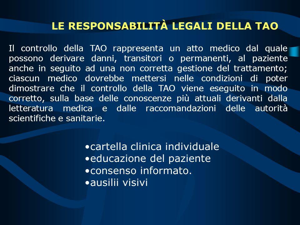 LE RESPONSABILITÀ LEGALI DELLA TAO