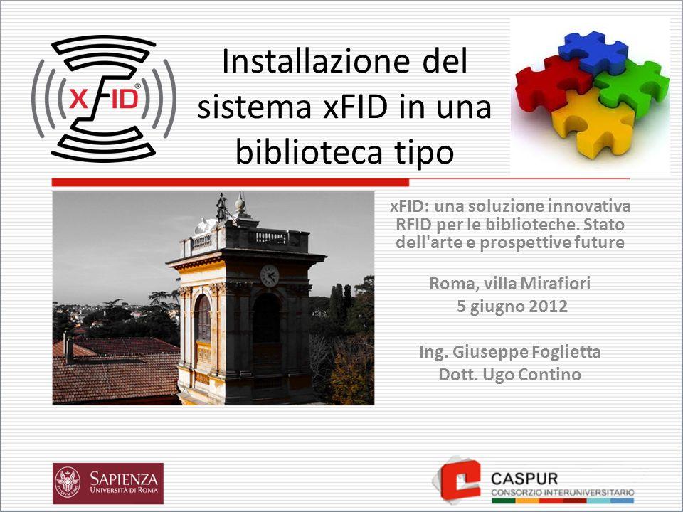 Installazione del sistema xFID in una biblioteca tipo