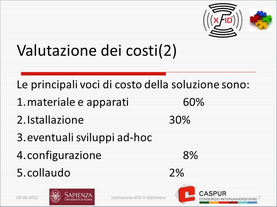 Valutazione dei costi(2)