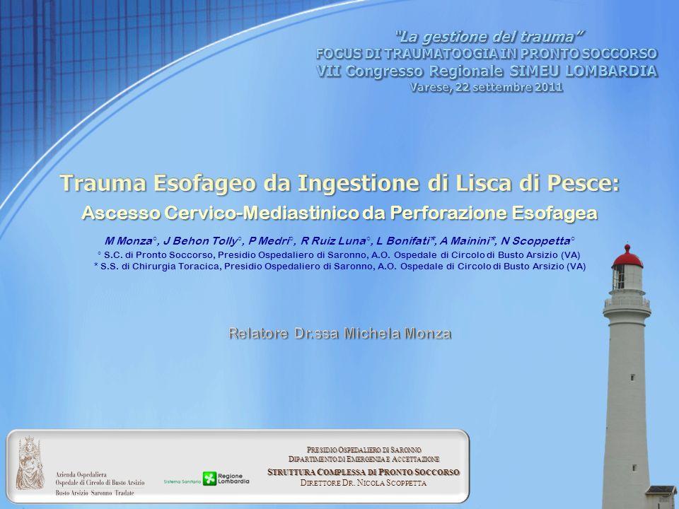 Trauma Esofageo da Ingestione di Lisca di Pesce: